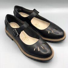 "NEW Clarks ""Griffin Marni"" Ladies Black Leather Vintage Mary Jane Shoes UK 5 E"