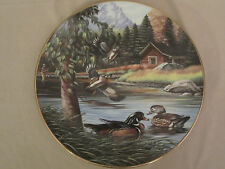 WOOD DUCKS IN JUNE collector plate KEN MICHAELSEN Wildlife SPORTING YEAR