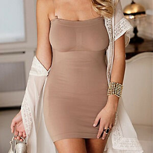 Plus Size Ladies Womens Full Length Tummy Control Slip Shapewear 28 30 32 34
