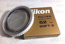 Nikon 52mm soft-2 focus-2 #2 no-2 Cristal Filtro objetivo JAPÓN ORIGINAL OEM