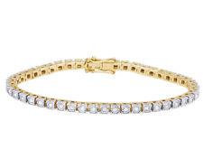 10k Yellow Gold Genuine Diamond Ladies Fanook Miracle One Row Bracelet 1 Ct 3mm