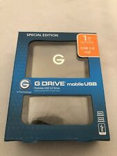 G-Technology G Drive Portable 1TB USB 3.0 External Hard Drive Mac + PC