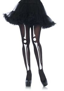 Leg Avenue Skeleton Print Tights 7733