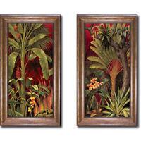 Bronze Framed Bali Garden I & II by Rodolfo Jimenez 2-pc Canvas Set (Medium)