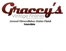 -Polaris White- Gracey's Vintage Finishes Nitrocellulose Guitar Lacquer.