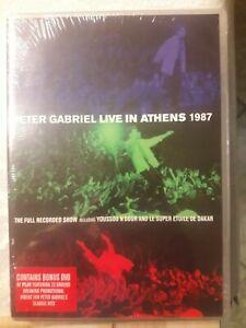 ..peter. GABRIEL - LIVE IN ATHENS 1987  (2 DVD)  POP  NEW! Sigillato