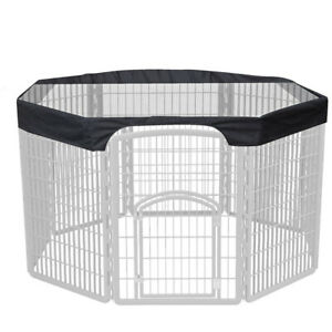 Large Dog Playpen 24''8Panels Pet Cage Cover Cover Sun Rain Proof Indoor Outdoor