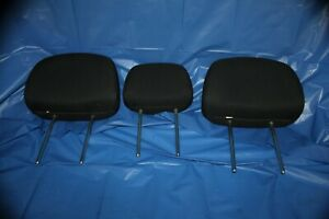 05-12 FORD ESCAPE TRIBUTE REAR SEAT 2ND ROW HEADREST SET HEAD RESTS BLACK CLOTH