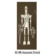 Star Wars Decal: IG-88 Assassin Droid (65x135mm) a bounty hunter
