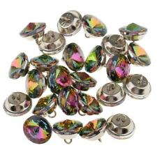 25pcs Colorful Rhinestone Button Sofa Upholstery Headboard Decor Buckle 18mm