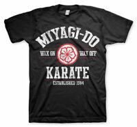 Karate Kid Miyagi Wax On Wax Off Official Classic Movie Mens Black T-Shirt
