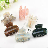 Small Hair Styling Accessories Ponytail Crab Acrylic Marble Hair Clip Hair Claws