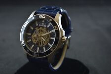 Invicta Specialty Blue Skeletal Dial Blue Leather Men's Watch 17259