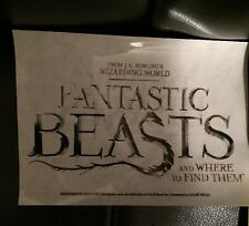 Harry Potter Fantastic Beasts and Where to Find Them Clear Sticker New