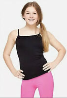 Justice Girl's Size 8-10 Seamless Cami in Black New with Tags