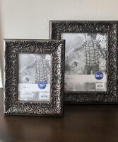 Set Of 2 Bronze Distressed Finish Swirled Photo Frame Size 5x7 And 8x10