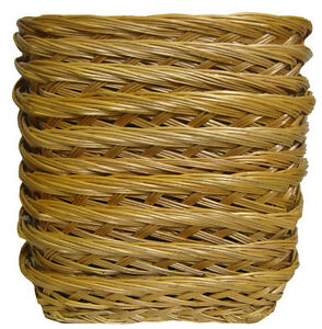 10 x Shallow Wicker Trays - Fruit Gift Basket Hamper, Shop Display - 23x18x5cm
