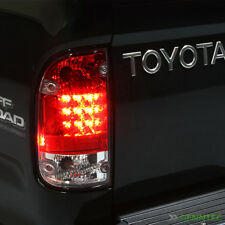 For 1995-2000 Toyota Tacoma Red/Clear LED Tail Lights Lamps Brand New L+R