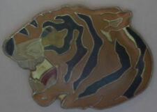 New Tigers Head Lapel Pin Tie Tack Jungle Animal Colorful Yellow Black Tiger
