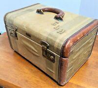Vintage Hartmann Tweed Train Case Antique Luggage Austin Trunk Factory