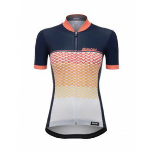 Women's Volo Short Sleeve Cycling Jersey in Orange by Santini