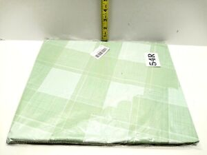 """GREEN Plaid Round Polyester Tablecloth Table Cover 53"""" Indoor/Outdoor New"""