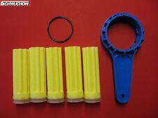 FITRE À HUILE FILTRES À DE CHAUFFAGE 5 pièces Long SIKU JAUNE 50 µm Clé modèle