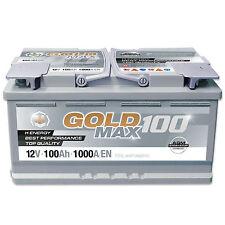 Autobatterie 12V 100Ah 1000 A/EN Solar Boot Camping AGM Goldmax100
