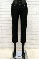 Pantalone TRUSSARDI Donna Taglia 31 Jeans Pants Woman Cotone Gamba Dritta Nero