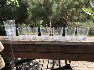 Acrylic double oldfashion glasses set of 9