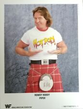 1989 Autographed WWF Rowdy Roddy Piper 8 X 10 Color Press Photo by Steve Taylor