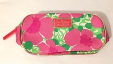 New LILLY PULITZER x ESTEE LAUDER Pink/Green Floral Travel Cosmetic Bag Makeup