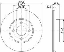 MINTEX MDC2365 BRAKE DISC Front
