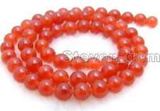 "SALE small 6mm Round High quality red jade gemstone beads strands 15""-los513"