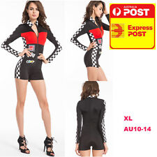 Grid Girl Costume Racing Car Sportswear XL 10-14