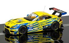 C3720 scalextric slot car jaune & bleu bmw Z4 GT3 daytona 24hr 2015 nouveau uk