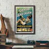 Creature from the Black Lagoon horror sci-fi movie poster canvas print