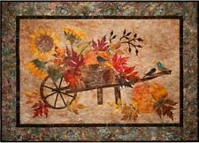 Harvest Pumpkin Leaves Birds Fall Autumn Laundry Basket Applique Quilt Pattern