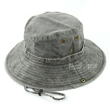 7728a6e992742 Mens Boonie Bucket Hat Cap Military Wide Brim Fishing Hunting 100%Cotton  Gray S6