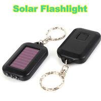 Mini Portable Solar Power ZO Black 3LED Light Keychain Torch Flashlight Pop