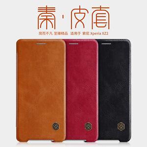 Nillkin PU Leather Flip Card Cover Case For Sony Xperia XZ3 XZ2 Compact Premium