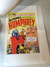 Humphrey #4 Cover Art original cover proof 1948 w/Printer Invoice, Rare, Palooka