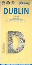 Map of Dublin, Ireland, Laminated & Folded by Borch Maps (2008)