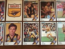 1984 HAWTHORN VFL / AFL SCANLENS Cards...Team Set -1 w/ UNMARKED CHECK LIST