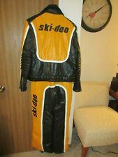 Rare Vintage Ski Doo Snowmobile Mens Leather Jacket/Bibs Size Medium? 42/36