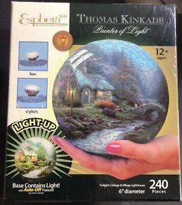 3D Light Up Puzzle Kinkade Cottage Lighthouse Esphera 360