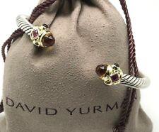 DAVID YURMAN 5mm Renaissance Bracelet Citrine & Garnet 14k Gold Sterling Silver