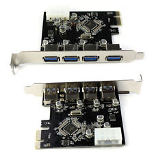 4-Port USB 3.0 To PCI-E Card Express Expansion Karte Adapter VIA 5Gbps Beliebt F