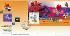 HONG KONG,  2000 HONG KONG 2000, FLOWER MIN SHEET FDC