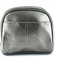 Jemma Kidd Silver Make-up Bag Cosmetic with Pink Pocket